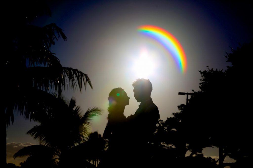 虹 ハワイ 絶景