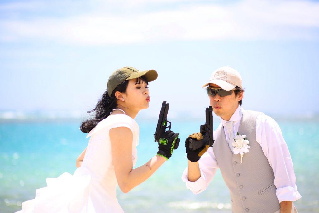 サバゲ― 夫婦 撮影