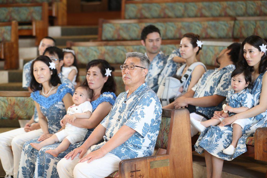 ハワイ挙式 参列者 アロハ