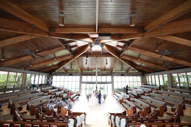 ハワイ キャルバリーバイザシー教会 挙式