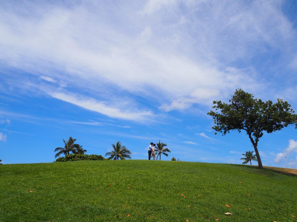 ハワイ カカアコウォーターフロントパーク 撮影