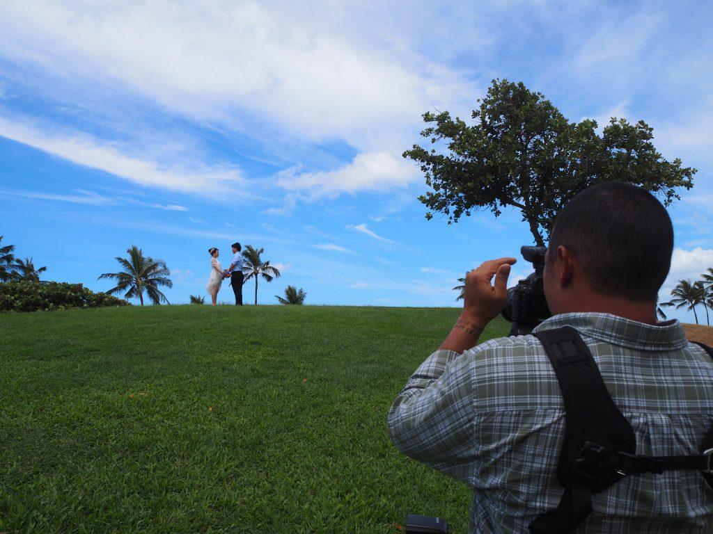 ハワイ 撮影風景 可愛い