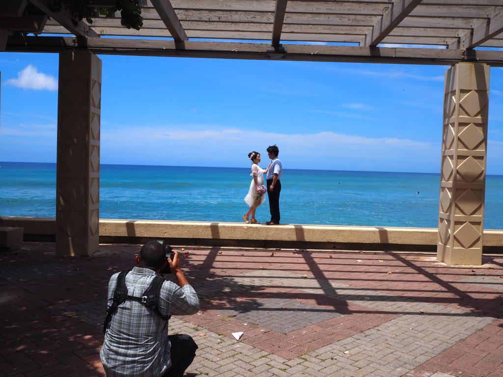 ハワイ ビーチウェディング 撮影