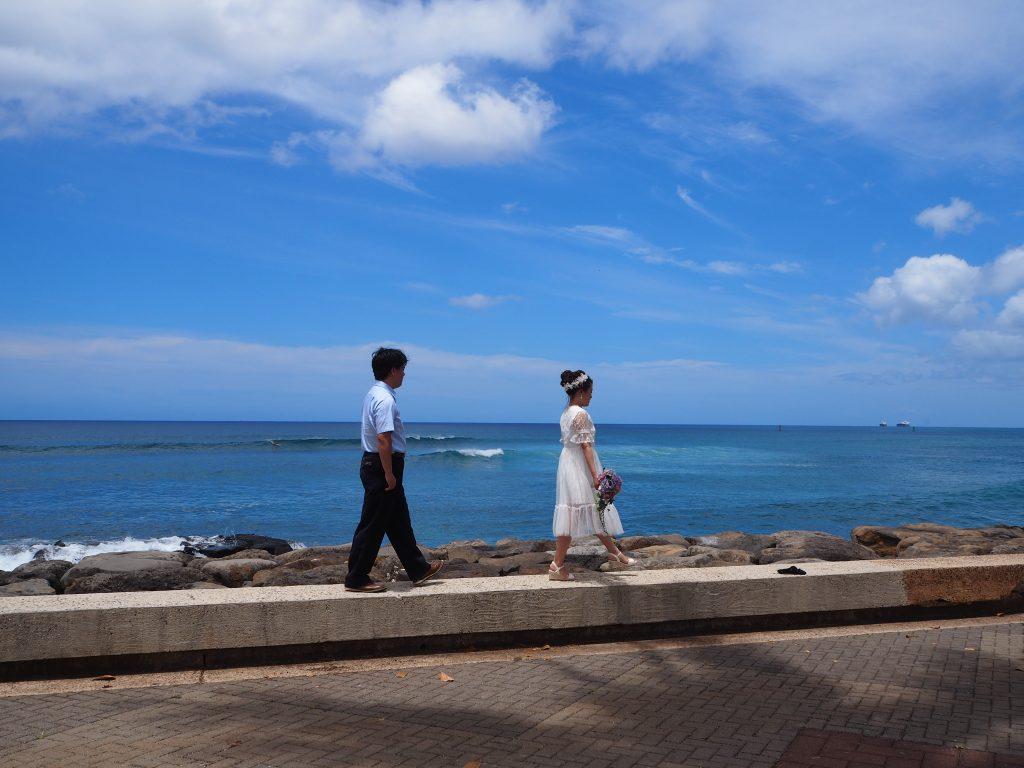 ハワイ挙式 フォトツアー 撮影