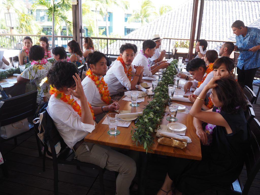 ハワイ レセプションパーティー アロハシャツ