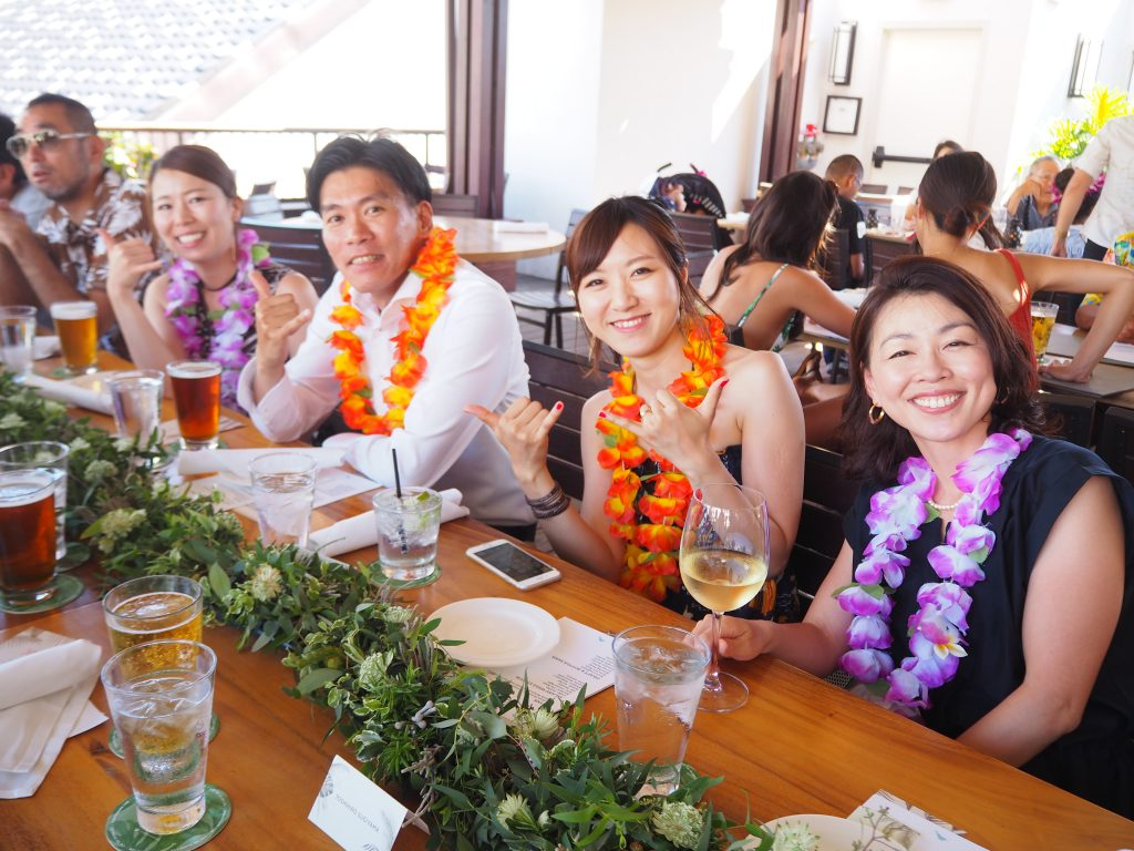 ハワイ 挙式後 パーティー