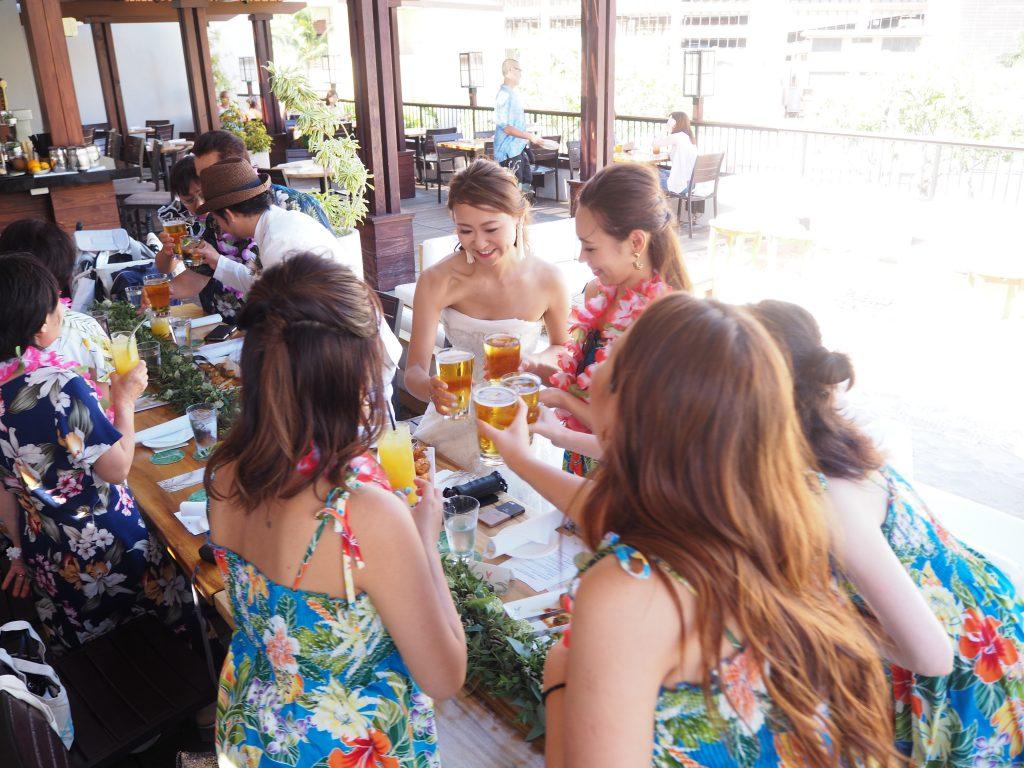 ハワイ レセプションパーティー トミーバハマ
