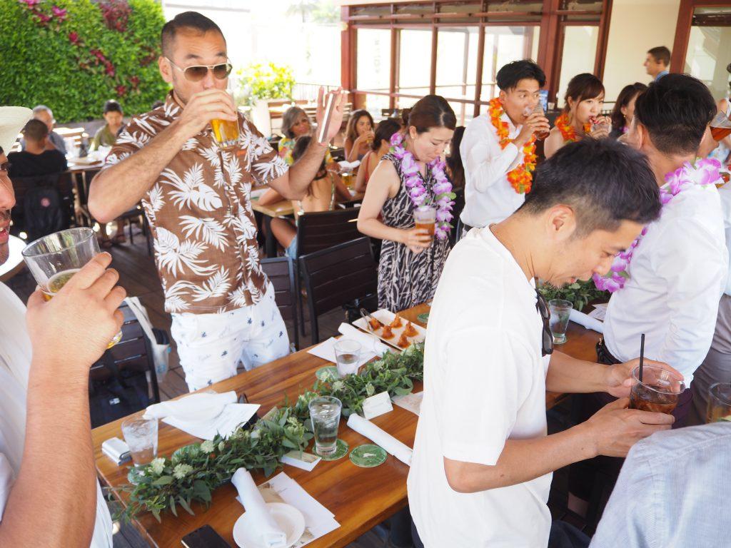ハワイ トミーバハマ レセプションパーティー