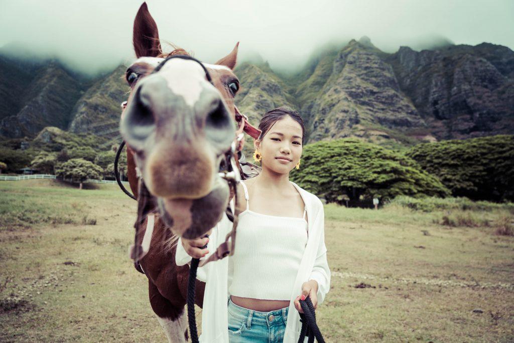 ハワイ 馬 撮影