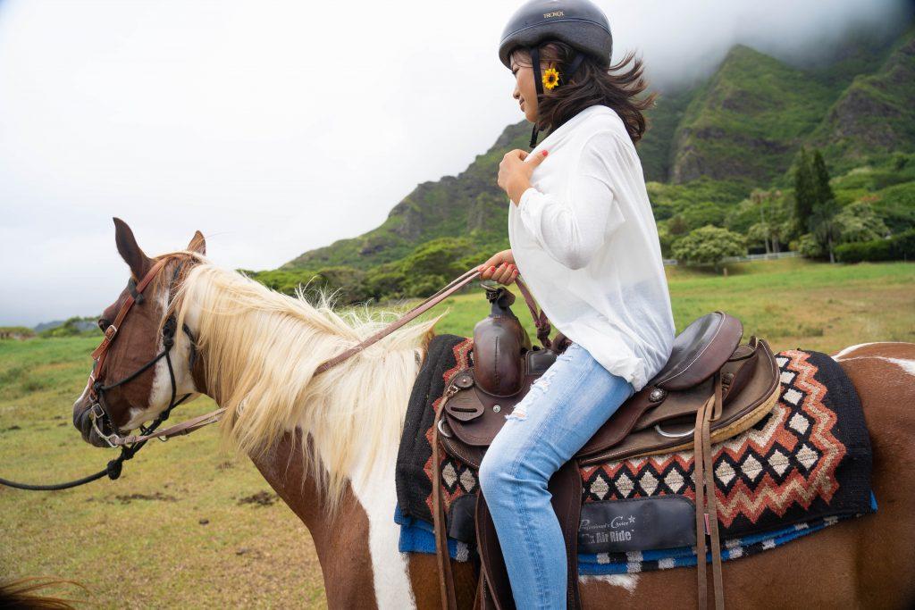ハワイ 乗馬 撮影