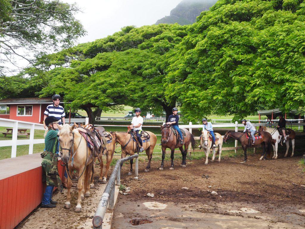 ハワイ クアロアランチ 乗馬