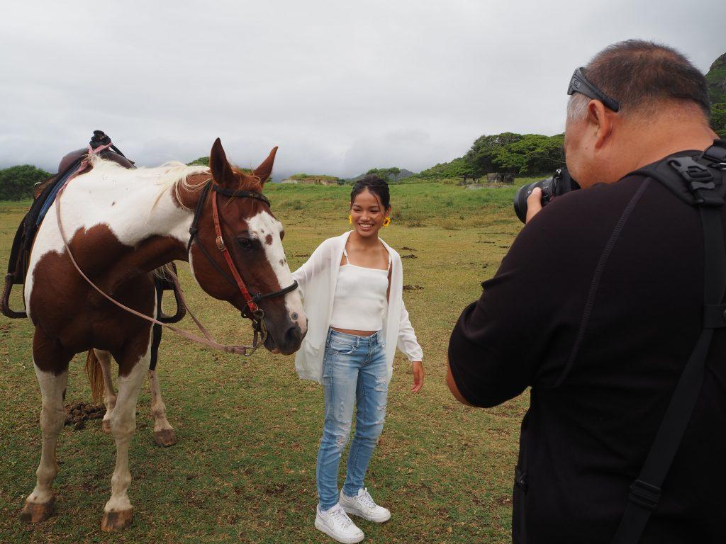 ハワイ 撮影 馬