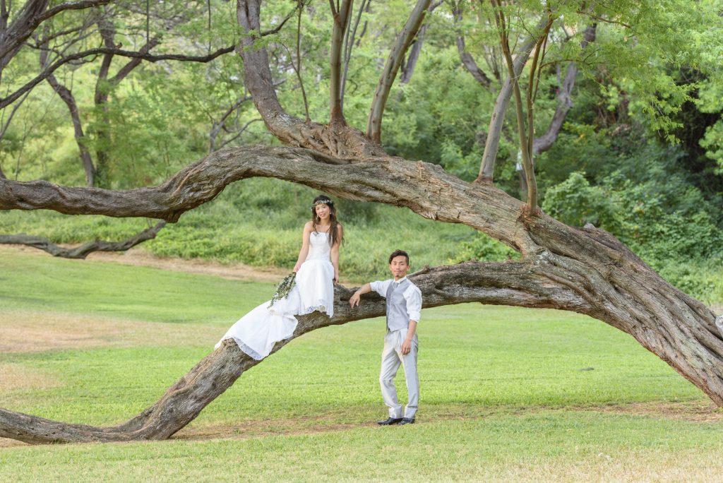 ハワイ カピオラニ公園 撮影
