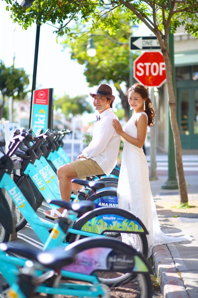 ハワイ 自転車 可愛い