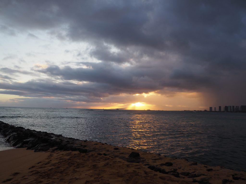 ハワイ サンセット 撮影