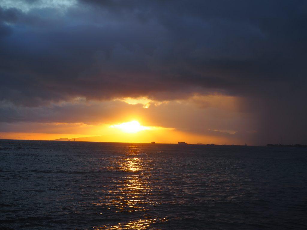 ハワイ サンセット 綺麗