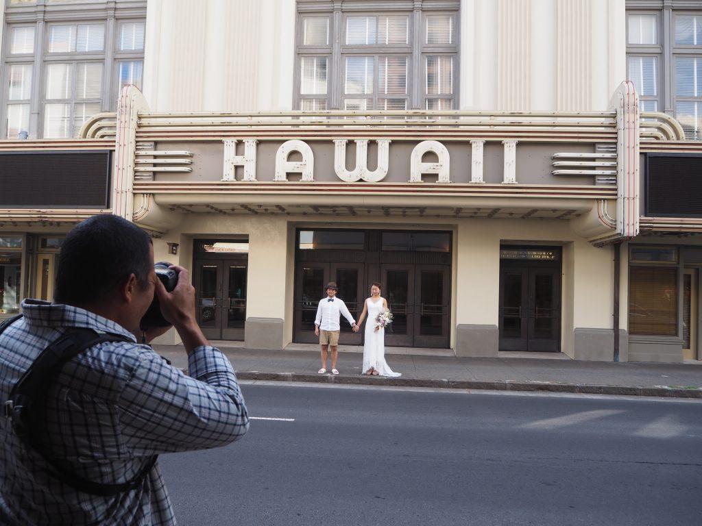 ハワイシアター 前 可愛い