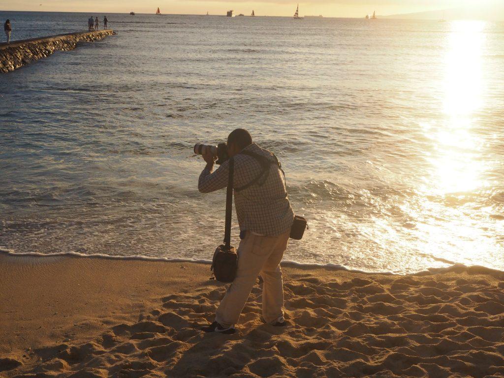 ハワイ サンセット撮影 カメラマン