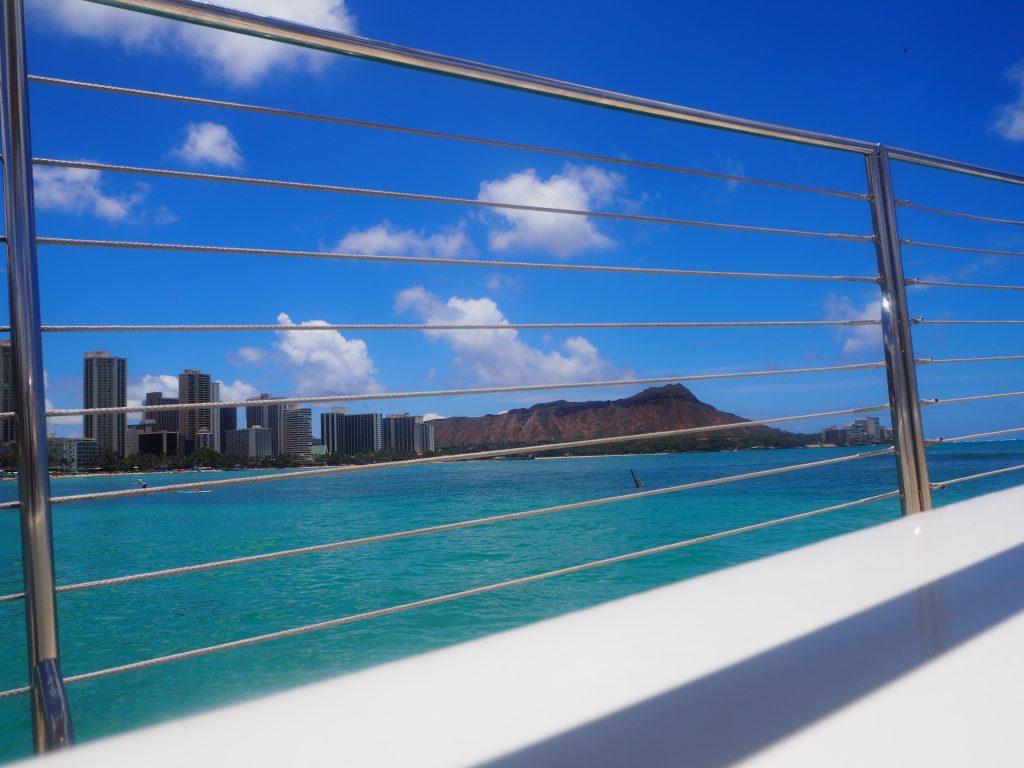 ハワイ ダイアモンドヘッド 船