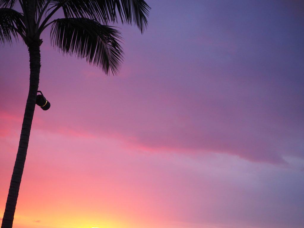 ハワイ島 サンセット 美しい