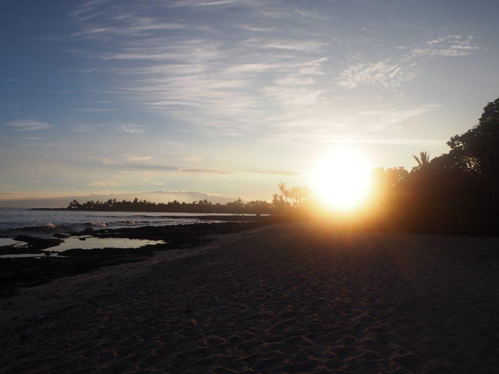 ハワイ島 サンライズ 太陽