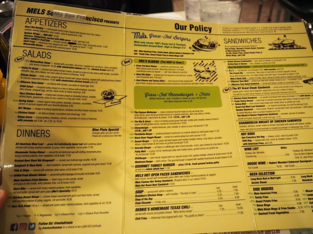 サンフランシスコ Mel's Drive In レストラン
