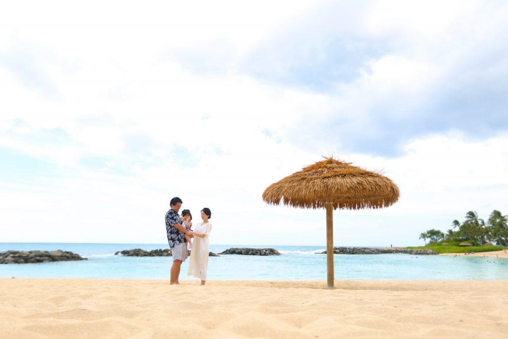 ハワイ ビーチ ファミリー撮影
