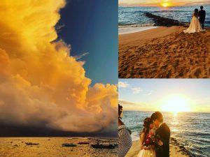 ハワイ サンセット ウエディング
