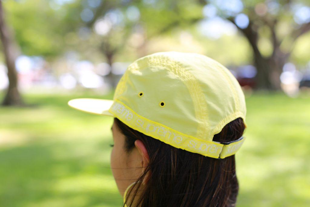 SUPREME 帽子 イエロー