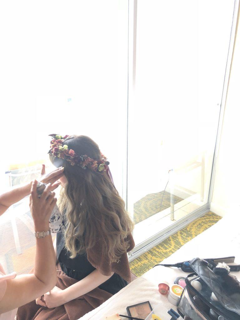 ハワイ 花嫁 ヘアメイク
