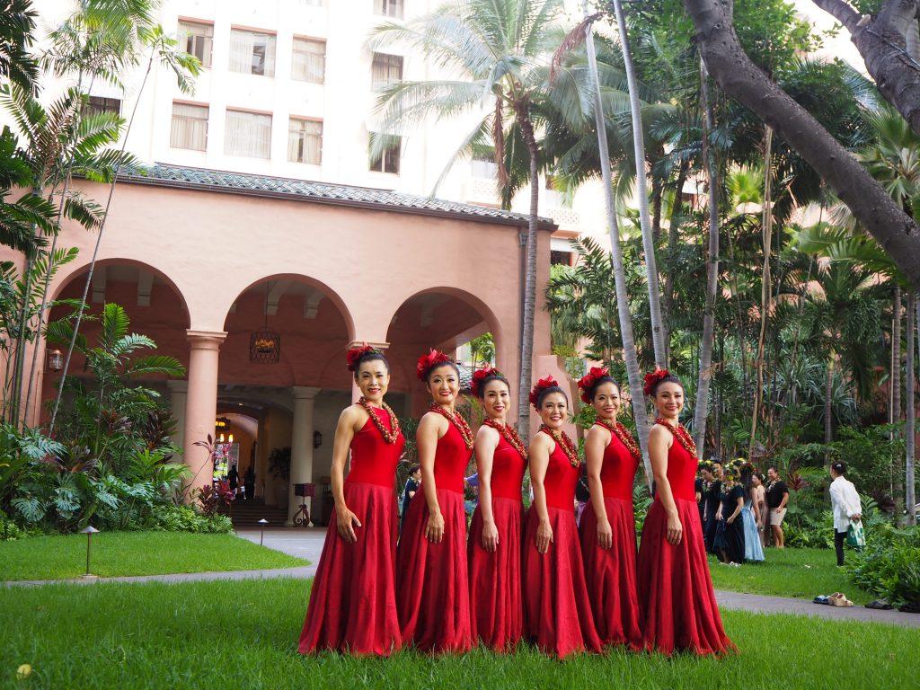 ハワイ ホテル撮影 友達