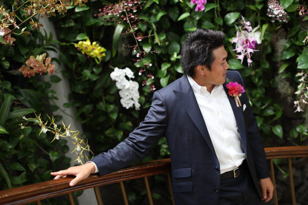 カハラホテル 新郎 撮影