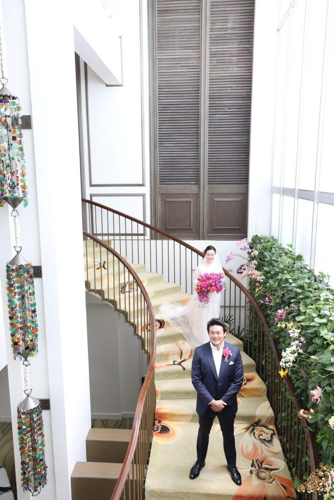 カハラホテル 階段 フォトツアー