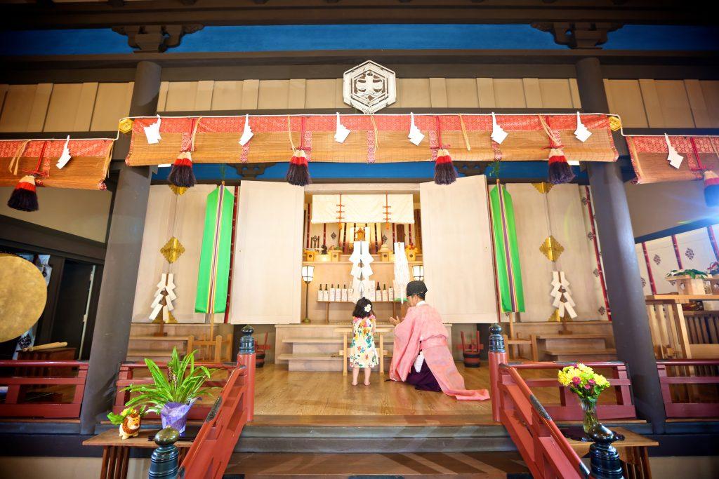 ハワイ フォトウェディング 神社