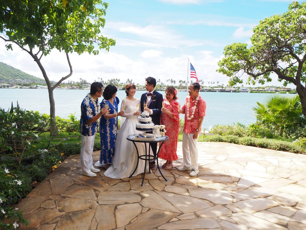ハワイ ケーキカット 海
