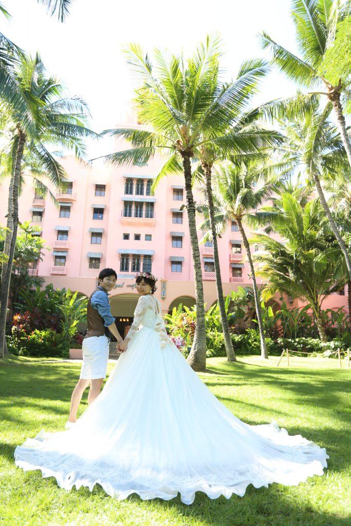 ハワイ ウェディングドレス