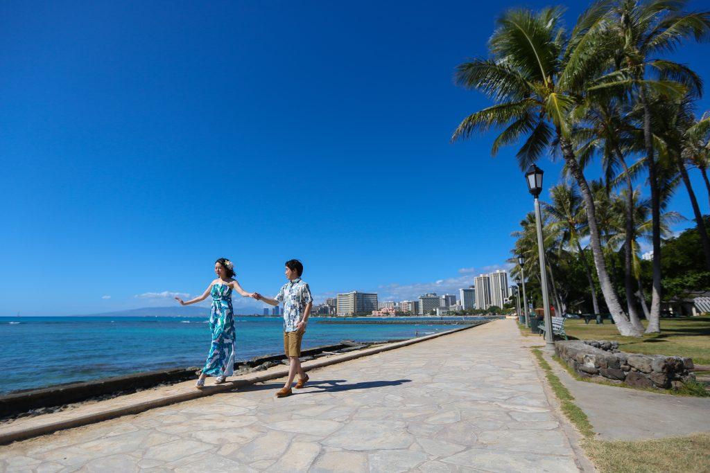 ハワイ カピオラニビーチ 撮影