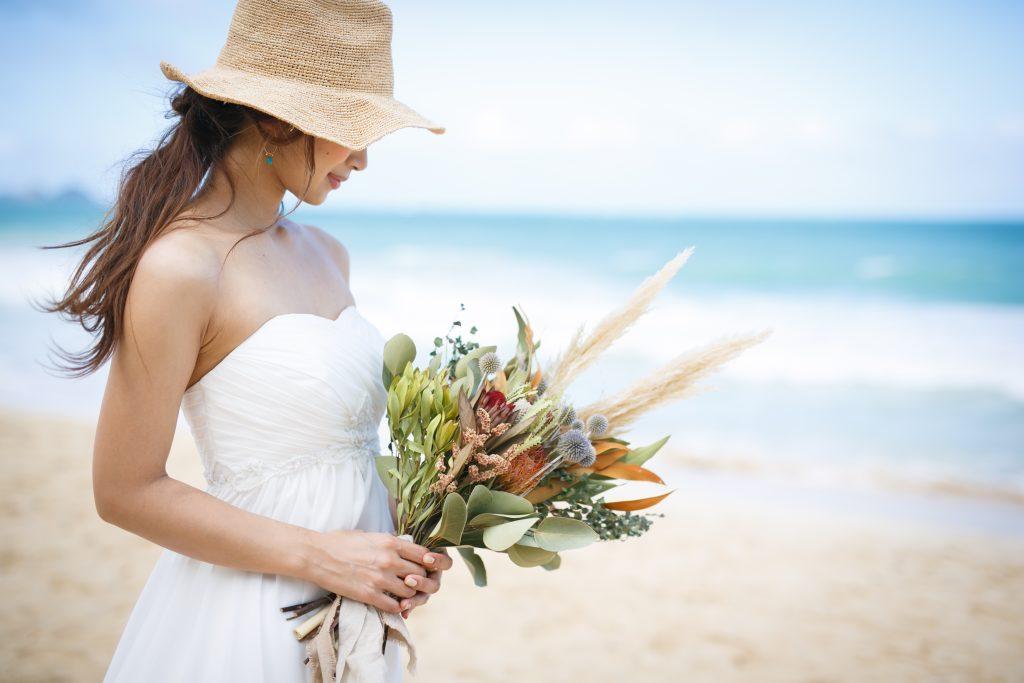 ハワイ ヘアメイク 花嫁