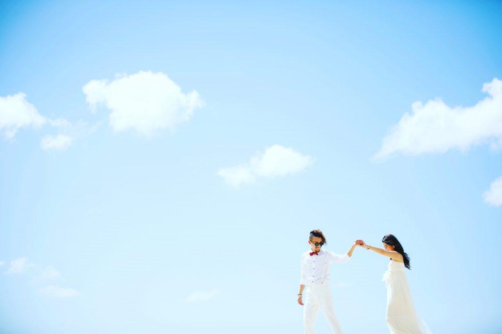 ハワイ 青空 撮影 可愛い