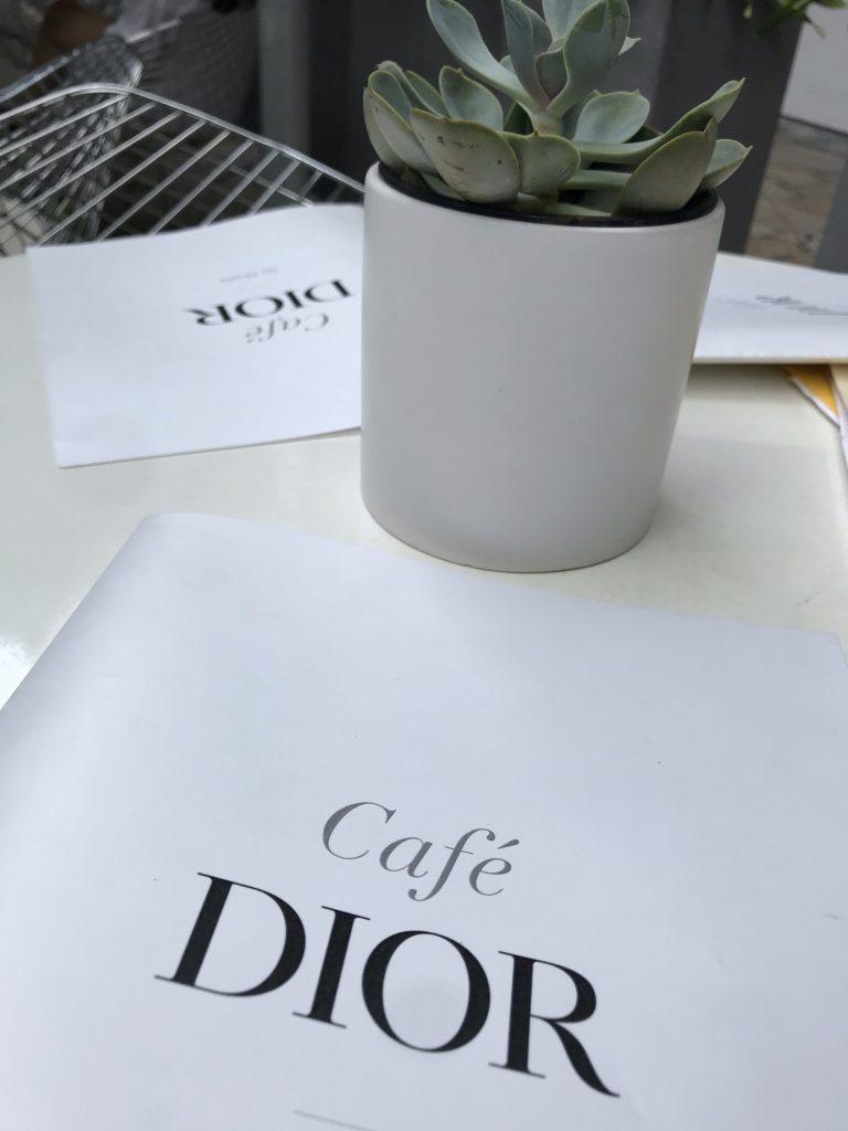 Diorカフェ メニュー