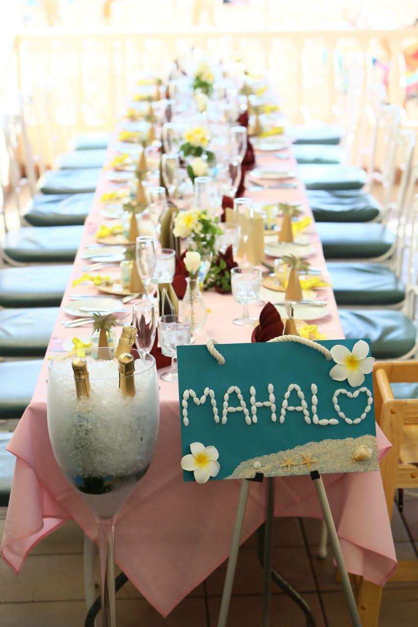 ハワイウェディング テーブルセット