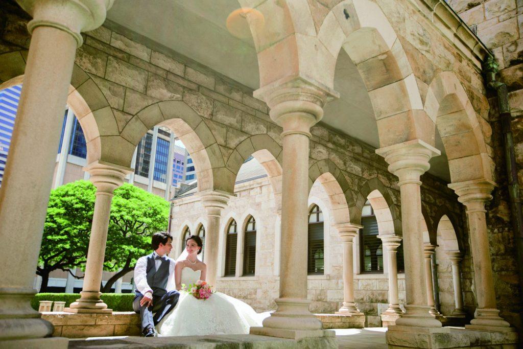 セントアンドリュース教会 中庭
