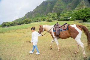 ハワイ 乗馬撮影 クアロアランチ